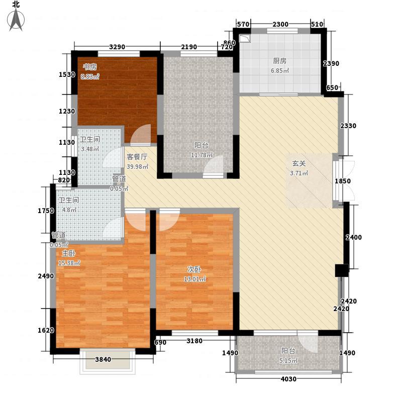 星悦华廷73136.86㎡X7户型3室2厅2卫