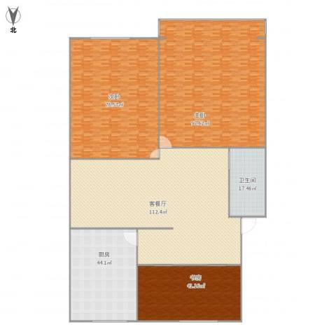 艮园3室1厅1卫1厨502.00㎡户型图
