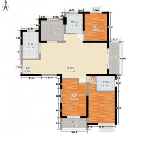 天隽峰3室1厅2卫1厨161.00㎡户型图