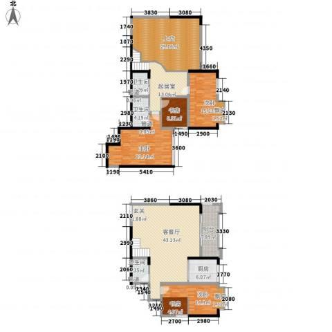 碧园花城4室1厅3卫1厨169.85㎡户型图