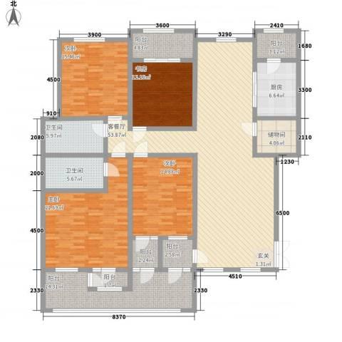 滨江壹号4室1厅2卫1厨223.00㎡户型图
