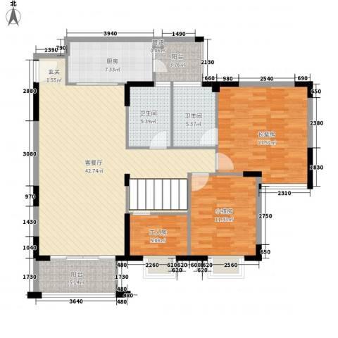 金沙湾花园1厅2卫1厨183.00㎡户型图