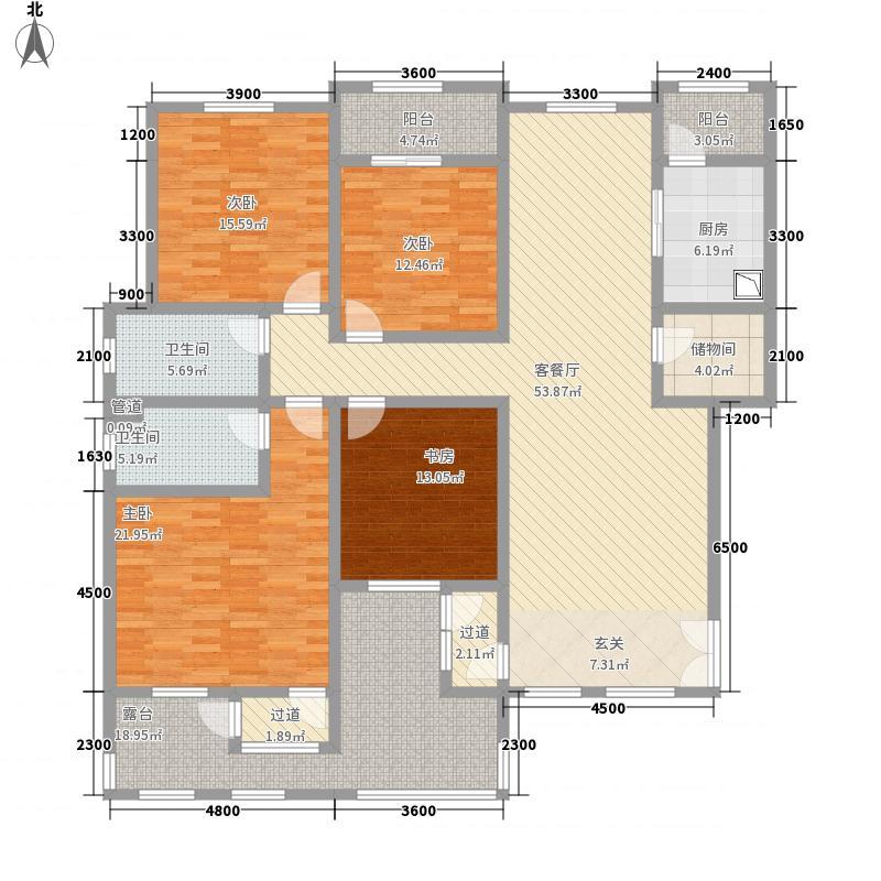 滨江壹号25.77㎡户型4室2厅2卫