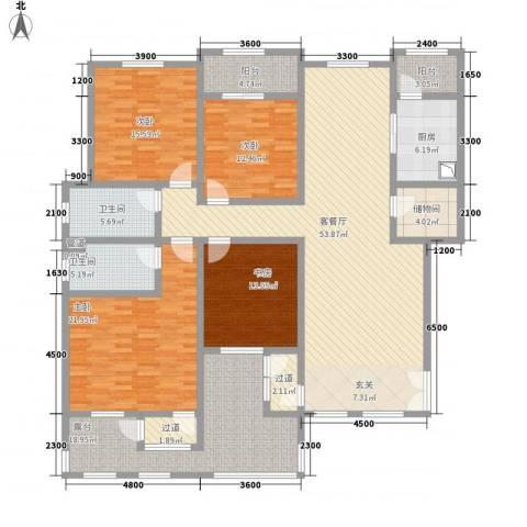 滨江壹号4室1厅2卫1厨168.82㎡户型图
