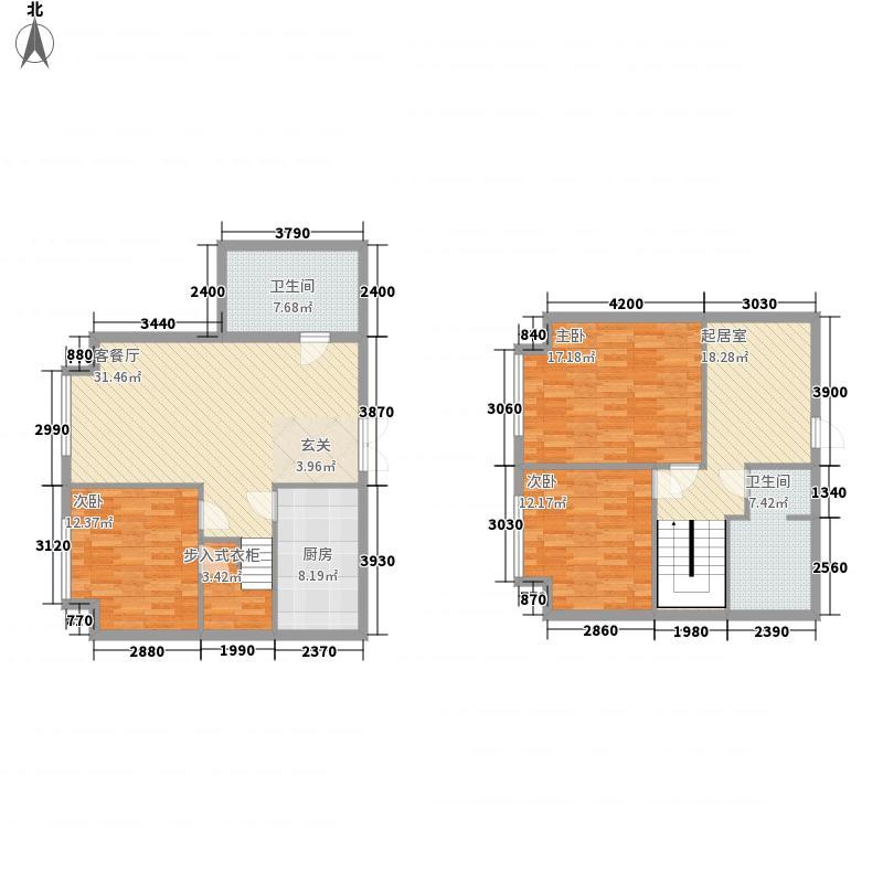 沿海国际中心182.00㎡5号楼I户型3室3厅2卫1厨