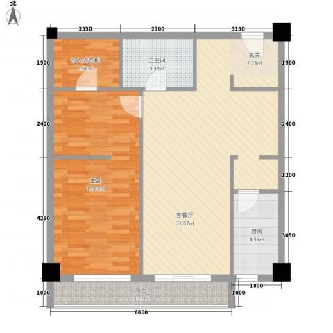 领汇乐城1室1厅1卫1厨69.71㎡户型图