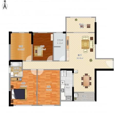 正和城4室1厅2卫1厨164.00㎡户型图
