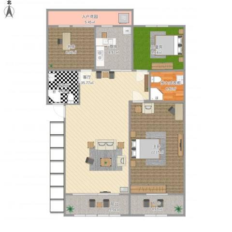 茗阳天下3室1厅1卫1厨146.00㎡户型图