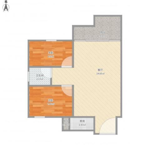 汇星豪庭11栋10032室1厅1卫1厨65.00㎡户型图