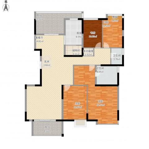 金地曲江尚林苑4室1厅2卫1厨255.00㎡户型图