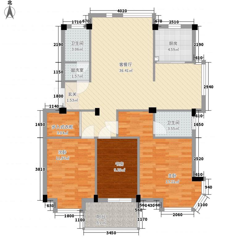 锦绣・紫荆城134.00㎡紫322-134_副本户型3室2厅2卫1厨