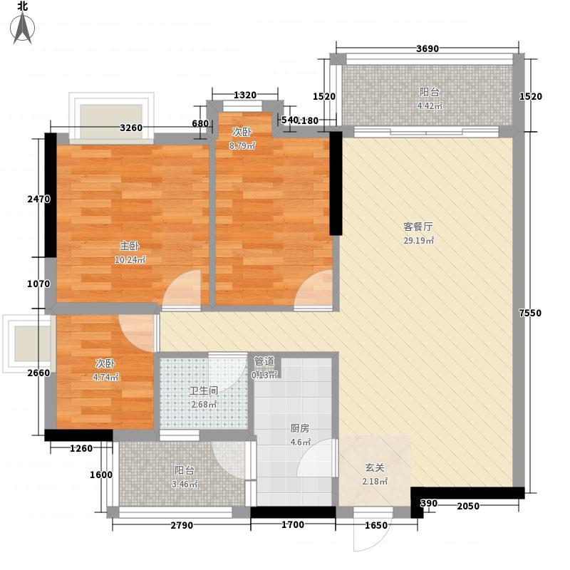 美陶花园83.00㎡9座3-18层5户型