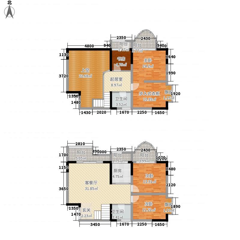 碧园花城163.00㎡罗兰郡9#E户型4室3厅2卫1厨