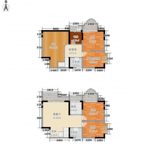 碧园花城4室1厅2卫1厨163.00㎡户型图