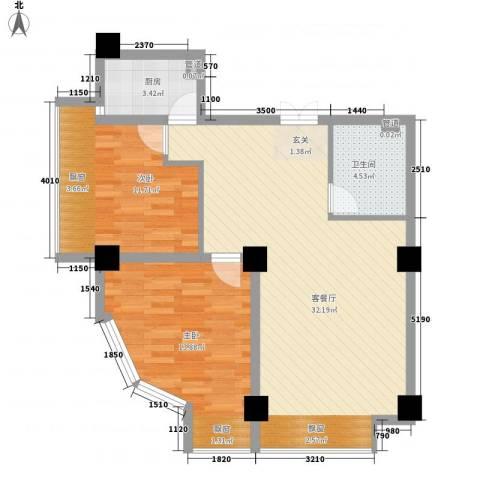 MAX未来2室1厅1卫1厨65.81㎡户型图