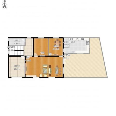 新世界花园别墅1室2厅2卫1厨268.00㎡户型图