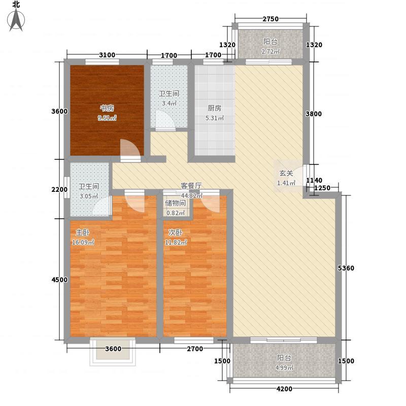 新加坡城11.53㎡尊荣户型3室2厅2卫1厨