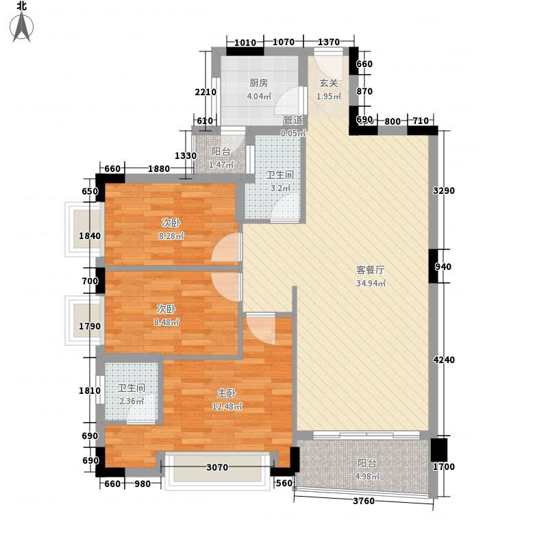中南海晖园114.00㎡12座0户型3室2厅2卫