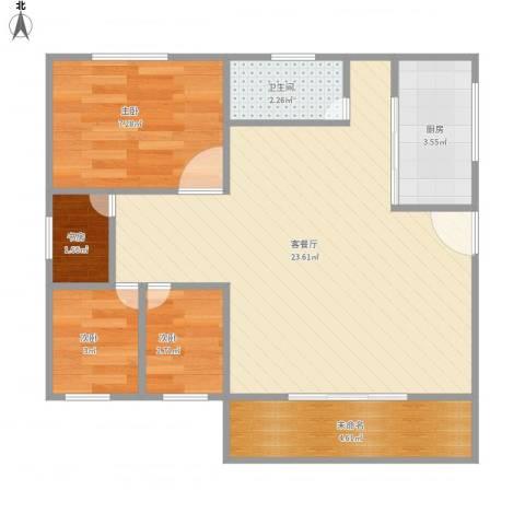 新华苑4室1厅1卫1厨103.00㎡户型图