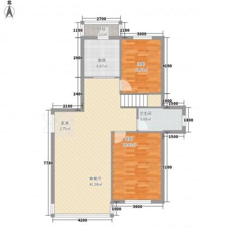 祥瑞家园2室1厅1卫1厨154.00㎡户型图
