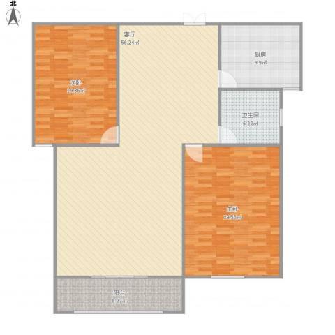新洲・欧洲城2室1厅1卫1厨164.00㎡户型图