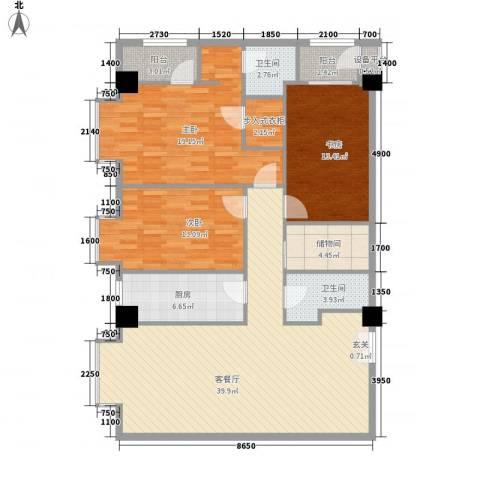 领汇乐城3室1厅2卫1厨169.00㎡户型图