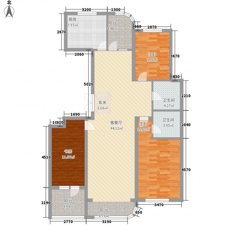 金湖湾首府14.00㎡E2户型3室2厅2卫