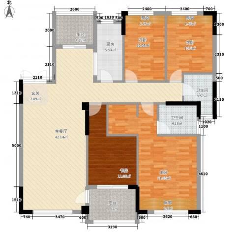 芙蓉公馆4室1厅2卫1厨138.00㎡户型图