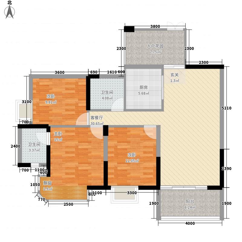 建昌・水岸新都113.43㎡G3户型3室2厅2卫1厨