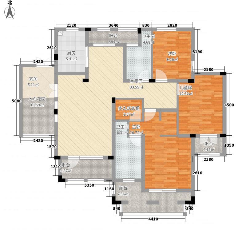 桂花园(桐庐)175.00㎡桂花园6-B3户型3室2厅2卫1厨