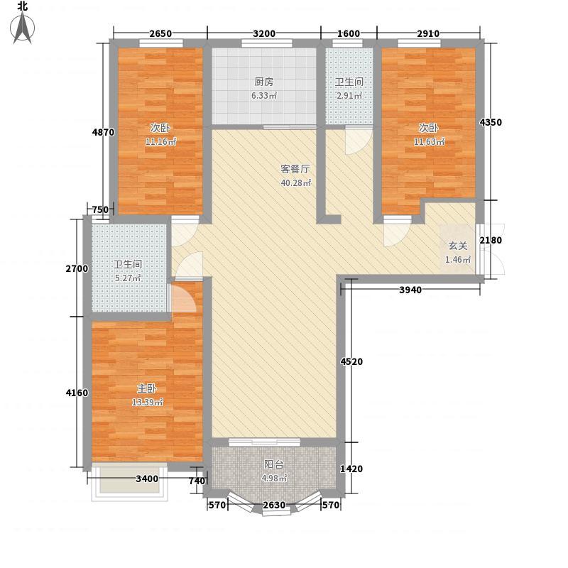 卡梅尔小镇332135.72㎡E户型3室2厅2卫1厨
