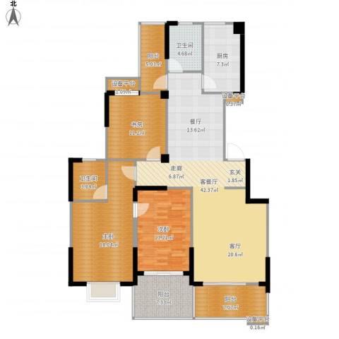 阳光花园3室1厅2卫1厨169.00㎡户型图