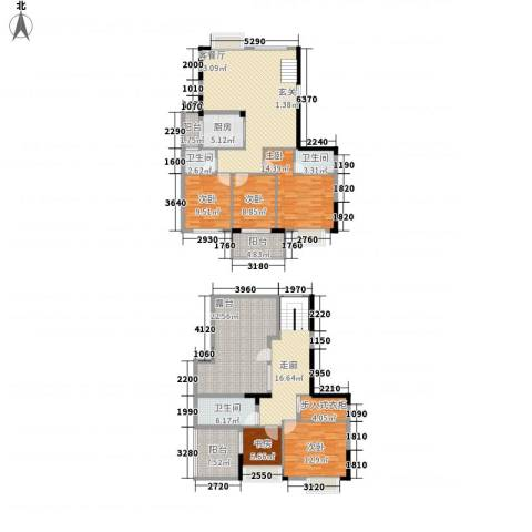 棕榈泉国际花园5室1厅3卫1厨225.00㎡户型图