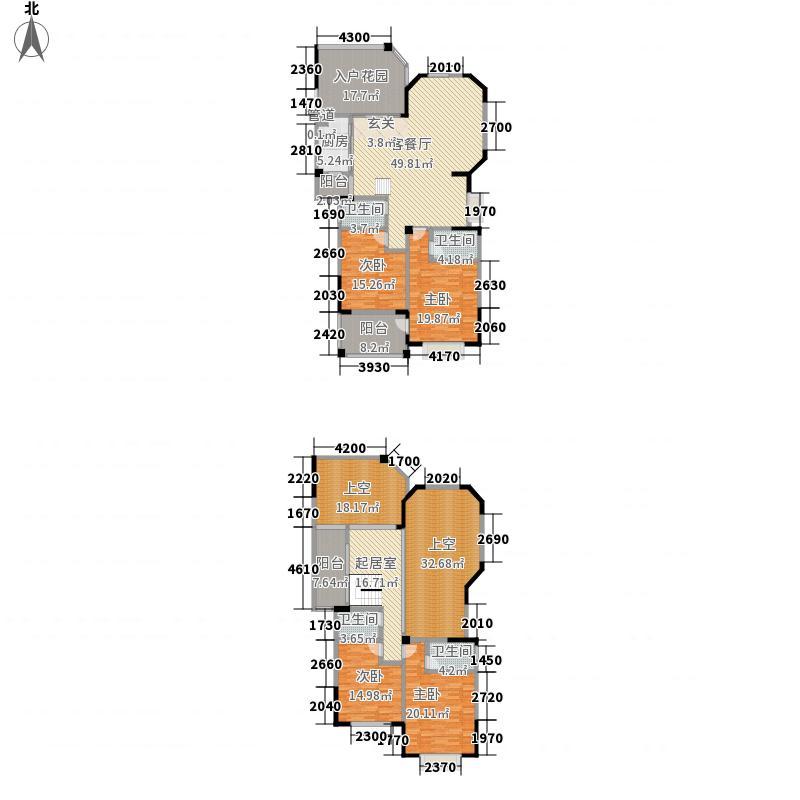 天昌凯悦国际228.14㎡8#12#13#14#24#楼Ja户型(复式)户型4室3厅4卫1厨