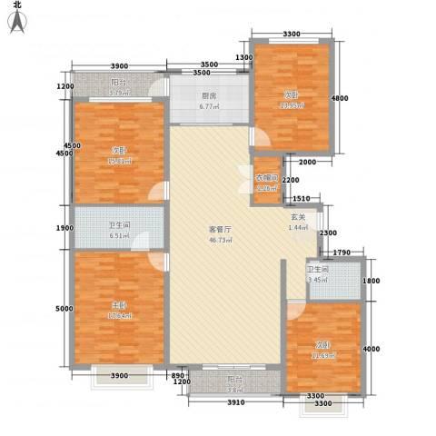 西京府4室1厅2卫1厨185.00㎡户型图
