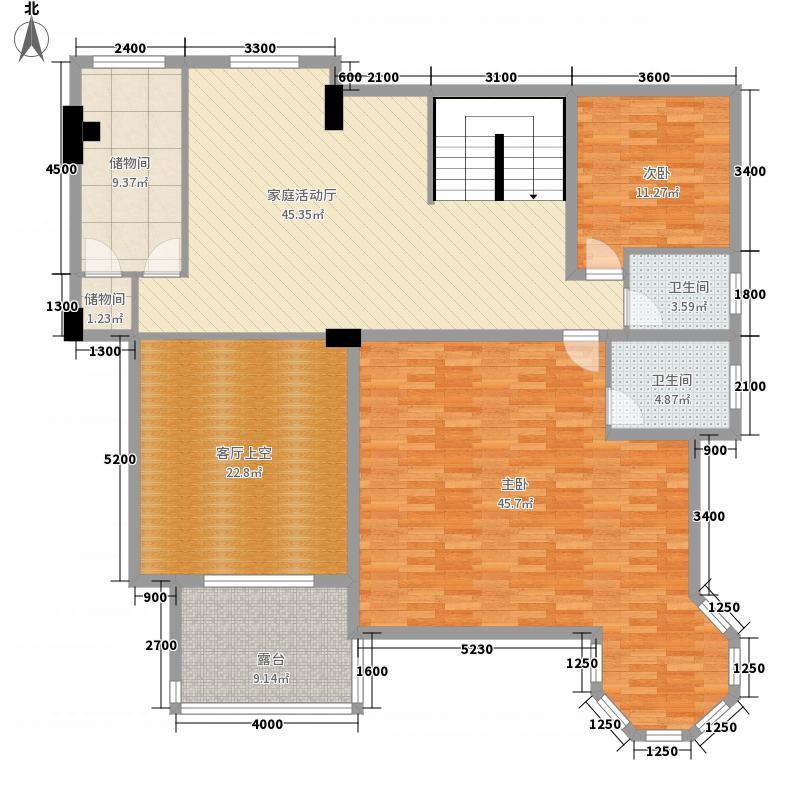 水晶郦城A7栋A型复式上层户型2室2厅2卫