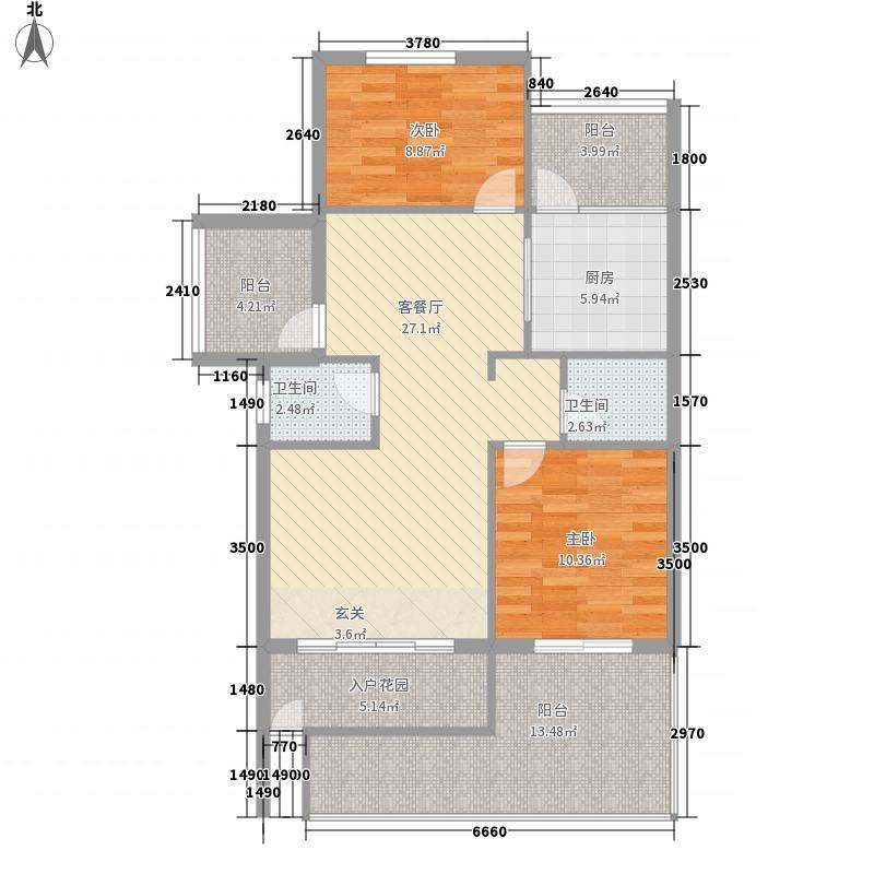 鑫亿城110.89㎡110.89平方米户型4室2厅2卫1厨