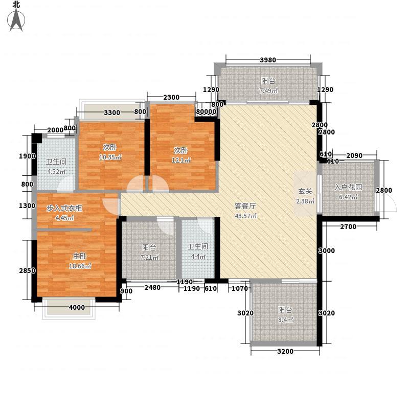 华泰・官邸5138.56㎡5号楼标准层01户型3室2厅2卫1厨