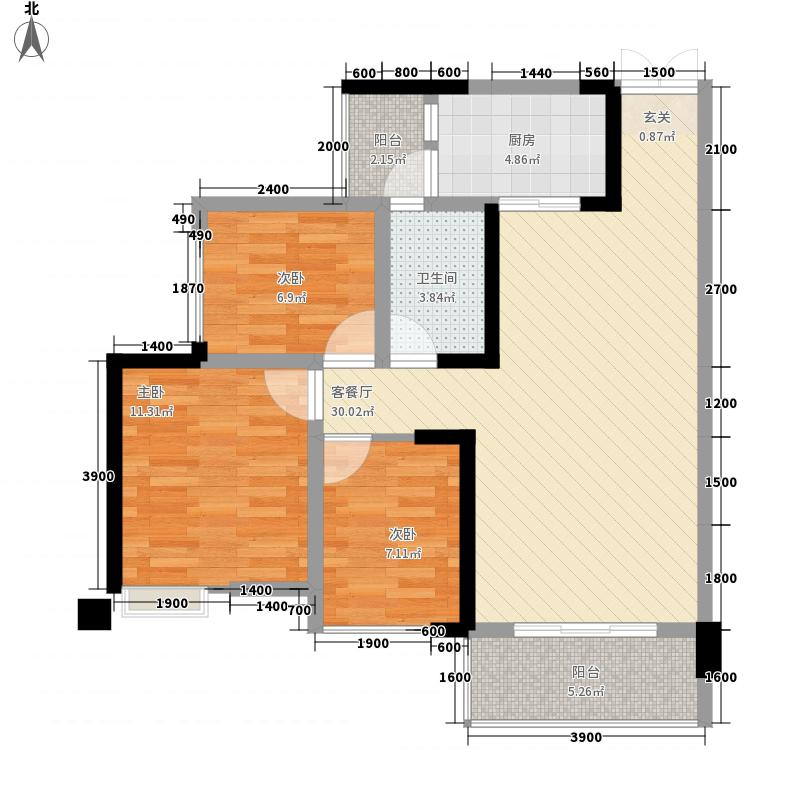 科华・西城公馆14.20㎡1、4-D4户型