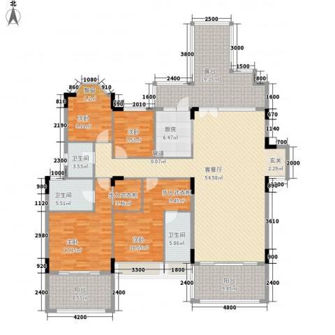 东江学府4室1厅3卫1厨232.00㎡户型图