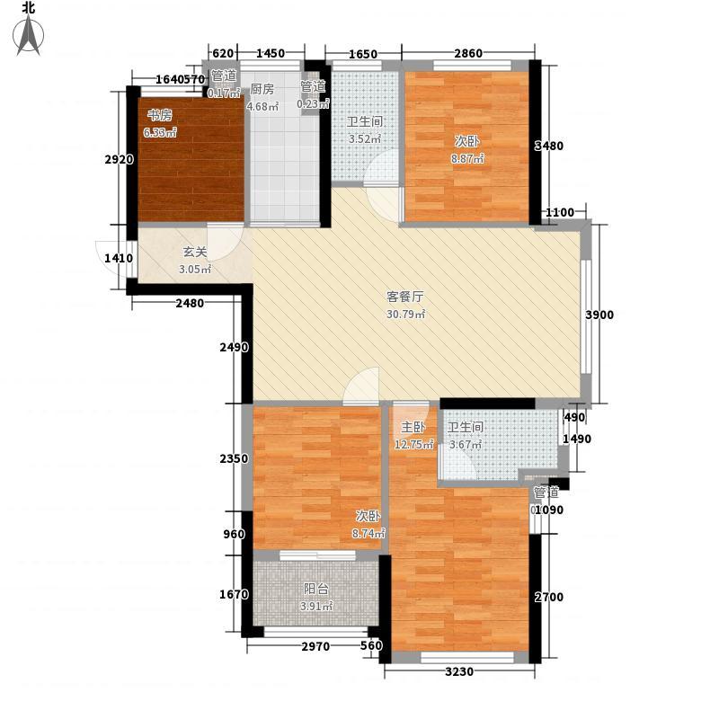 恒宇国际公园11.00㎡3#、6#、9#楼A户型4室2厅2卫