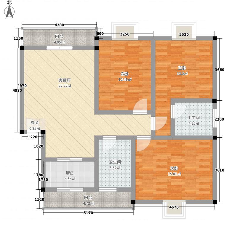 柏林小镇133.10㎡G#楼G-3户型3室2厅2卫