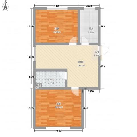 天成家园2室1厅1卫1厨85.00㎡户型图