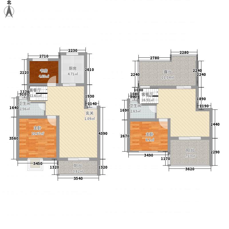 琴韵华庭136.67㎡户型3室