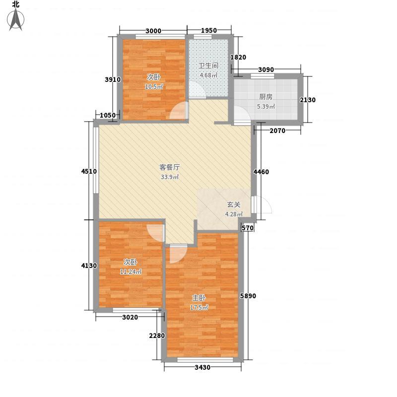龙山鸿郡4321115.00㎡户型3室2厅1卫1厨