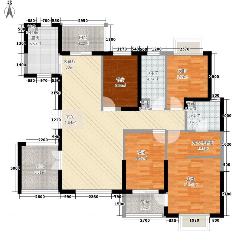长安城市花园长安城市花园4室2厅2卫户型4室2厅2卫