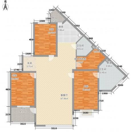 幸福阳光3室1厅2卫0厨163.25㎡户型图