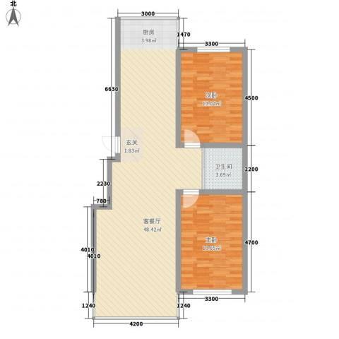 城基绿色家园2室1厅1卫0厨78.78㎡户型图