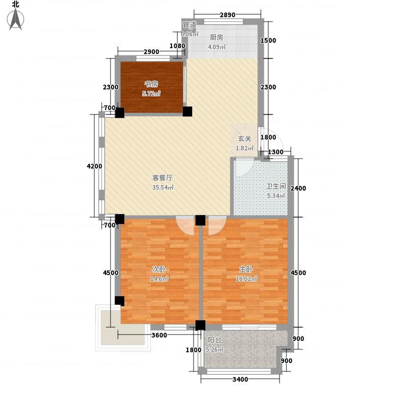 三江鸣翠桃源6.70㎡多层边套户型2室2厅1卫1厨
