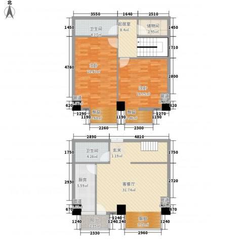 MAX未来2室1厅2卫1厨114.00㎡户型图